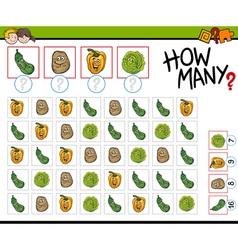 how many vegetables activity vector image vector image
