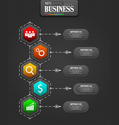 infographics business template concept vector image
