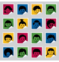 kids labels vector image