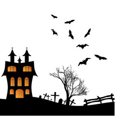 landscape with a halloween castle vector image