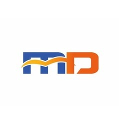 Letter m and d logo vector