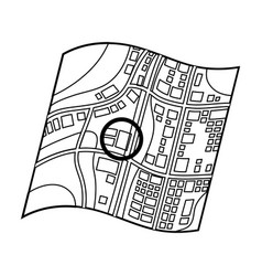 Location on the maprealtor single icon in outline vector
