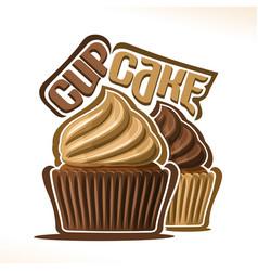 Logo for chocolate cupcake vector