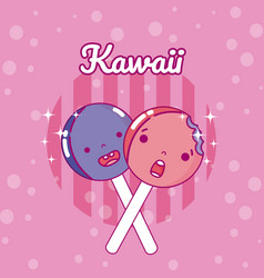 lollipops cute kawaii vector image