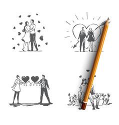 Love couple - loving romantic couple vector