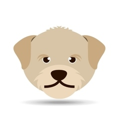 Lovely head puppy dog portrait vector
