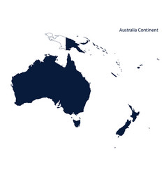 Map australia and oceania continent vector