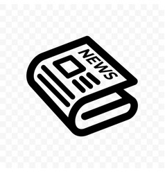 Newspaper news line icon linear newspaper app and vector