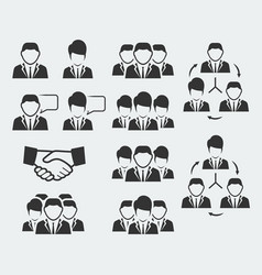 office and business people icon set vector image