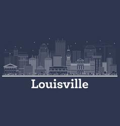 Outline louisville kentucky usa city skyline with vector