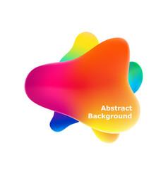 plastic colorful shapes fluid multicolor banner vector image