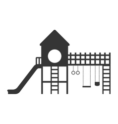 Playground with a slide and swings vector