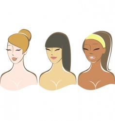 pretty girls vector image