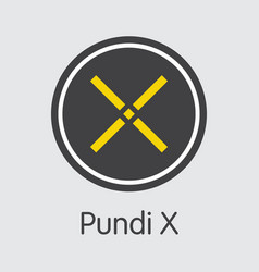 Pundi x digital currency coin sign icon of vector