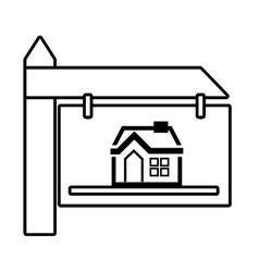 real estate wooden banner vector image