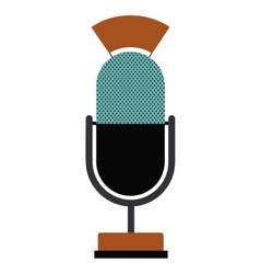 Retro microphone technology design vector