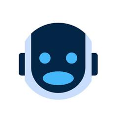 Robot face icon shocked face emotion robotic emoji vector