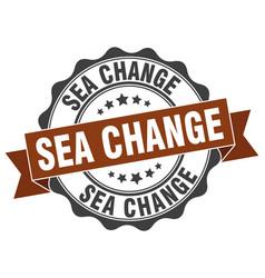 Sea change stamp sign seal vector