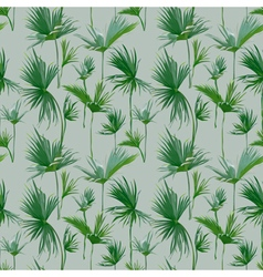 Seamless Tropical Palm Leaves Background vector image vector image