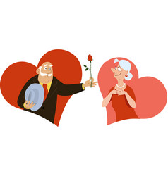 senior singles hearts vector image