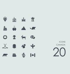 Set canada icons vector