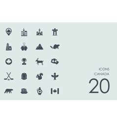 Set of Canada icons vector