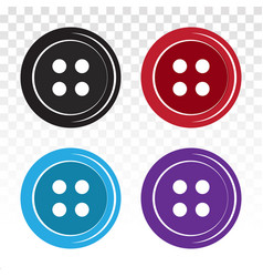 Sewing button or shirt fastener buttons flat icon vector