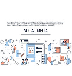 social media connection background social media vector image
