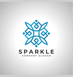Sparkle - abstract square logo vector