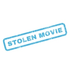Stolen Movie Rubber Stamp vector image