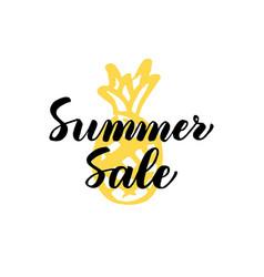 summer sale lettering vector image
