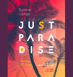 summer time party poster design template vector image