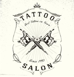Tattoo Studio Logo Design vector