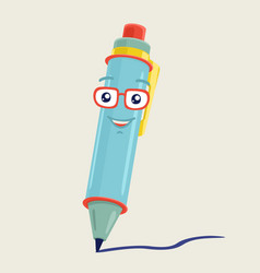 the character pen vector image