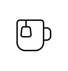 thin line tea cup icon vector image