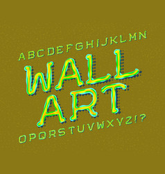 wall art typeface graffiti font isolated english vector image