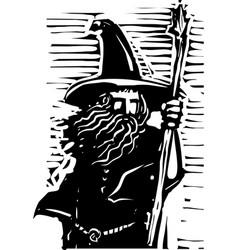 wizard bust vector image
