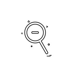 zoom out icon design vector image