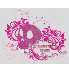 Background with skull vector image