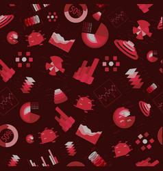 charts seamless pattern vector image vector image