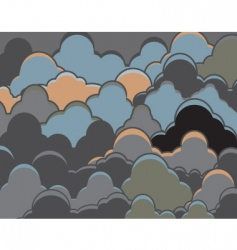 cloudy background vector image vector image