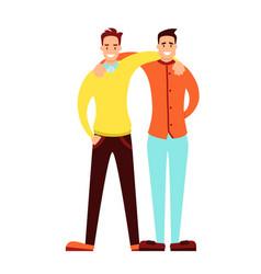 friendship of adult men vector image