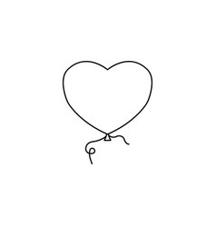 balloon heart and love line icon valentines day vector image