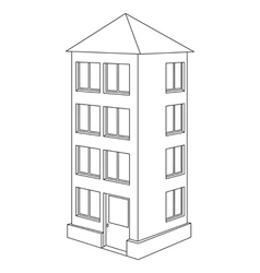 house contour vector image vector image