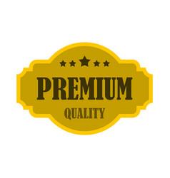 premium quality label icon flat style vector image vector image