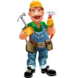 Smiling plumber vector image vector image