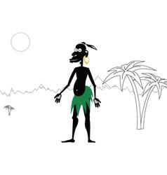 Aboriginal vector image vector image