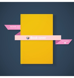 Book cover with ribbon vector image vector image