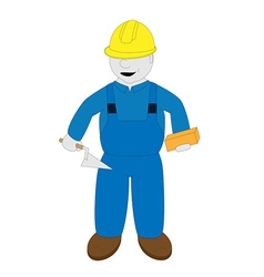 bricklayer vector image vector image
