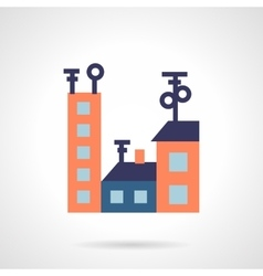 Colored houses flat icon vector image vector image